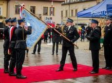 Nadanie Sztandaru Komendzie Powiatowej Państwowej Straży Pożarnej w Olkuszu oraz obchody Dnia Strażaka