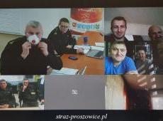 Szkolenie jednostek OSP z terenu powiatu proszowickiego dot. koronawirusa SARS-CoV-2.