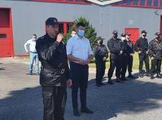 Przekazanie zestawów logistycznych dla Ochotniczych Straży Pożarnych