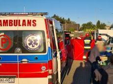 Skuteczna pomoc nieprzytomnemu kierowcy udzielona przez strażaków z Andrychowa.