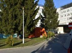 Namiot z KP PSP w Gorlicach przy Szpitalu Specjalistycznym