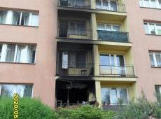 Pożar mieszkania w bloku na osiedlu Kościuszki w Dąbrowie Tarnowskiej