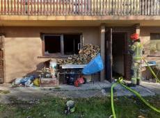 Pożar w budynku mieszkalnym