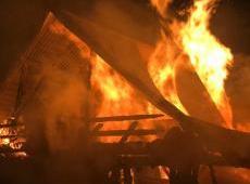 Pożar budynków w miejscowości Więciórka