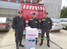 Przekazanie pakietu medycznego w ramach Małopolskiej Tarczy Antykryzysowej