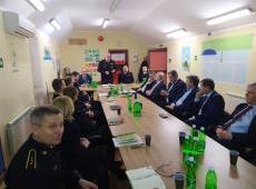 Roczna odprawa służbowa w Komendzie Powiatowej Państwowej Straży Pożarnej w Dąbrowie Tarnowskiej