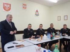 Odprawa roczna w Komendzie Powiatowej PSP w Miechowie